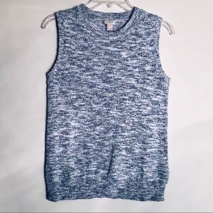 J. Crew Factory Space Dyed Knit Sleeveless Sweater